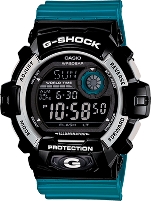 G-Shock Men's Digital Blue Resin Strap Watch 53x55mm G8900SC-1B