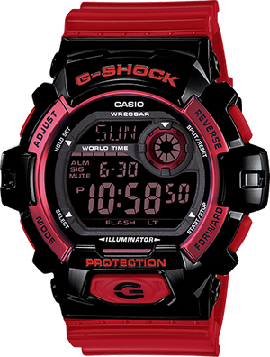 G-Shock Men's Digital Red Resin Strap Watch 53x55mm G8900SC-1R