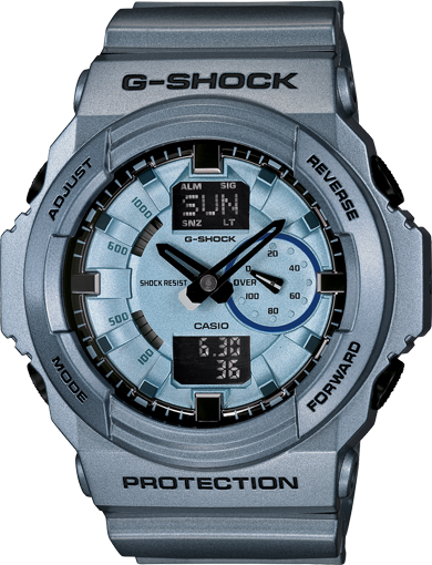 G-Shock Men's Analog Digital Blue Resin Strap Watch 52x55mm GA150A-2A