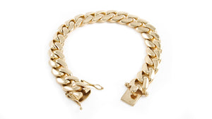 "14k Yellow Gold Miami Cuban Link Bracelet 9.5"" 14.3mm"