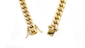 "14k Yellow Gold Miami Cuban Link Chain 26"" 12mm"