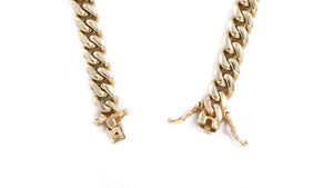 "14k Yellow Gold Miami Cuban Link Chain 26"" 8mm"