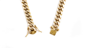 "14k Yellow Gold Miami Cuban Link Chain 26"" 9mm"