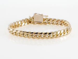 "14k Yellow Gold Miami Cuban Link Bracelet 8 ½"" 9.2mm"
