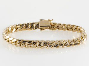 "14k Yellow Gold Miami Cuban Link Bracelet 9"" 8.9mm"