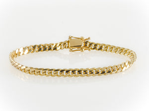 "14k Yellow Gold Miami Cuban Link Bracelet 8 ½"" 5.8mm"
