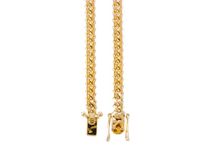 "14k Yellow Gold Miami Cuban Link Chain 24"" 5.0mm"