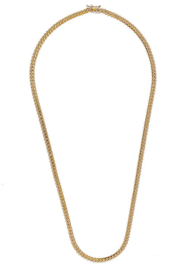 "14k Yellow Gold Miami Cuban Link Chain 24"" 5.2mm"