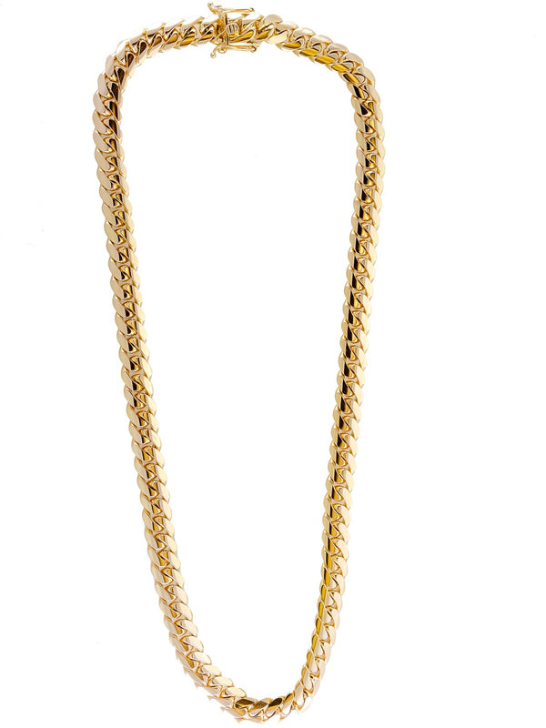 "14k Yellow Gold Miami Cuban Link Chain 26"" 11.7mm"