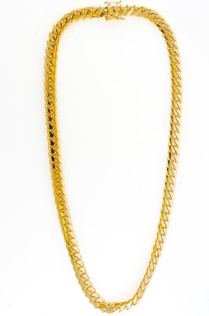 "14k Yellow Gold Miami Cuban Link Chain 28"" 12mm"