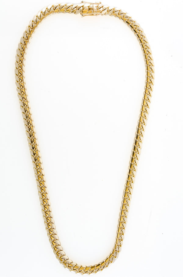 "14k Yellow Gold Miami Cuban Link Chain 26"" 10.2mm"