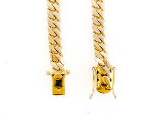 "14k Yellow Gold Miami Cuban Link Chain 25"" 9.3mm"