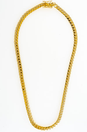 "14k Yellow Gold Miami Cuban Link Chain 25"" 8.9mm"