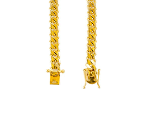 "14k Yellow Gold Miami Cuban Link Chain 27"" 8.3mm"