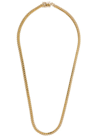 "14k Yellow Gold Miami Cuban Link Chain 25"" 6.6mm"