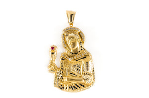 14k Yellow Gold Saint Barbara Pendant 37.2 Grams
