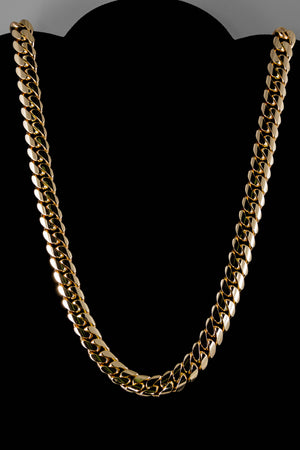 "14k Yellow Gold Miami Cuban Link Chain 27"" 11.6mm"