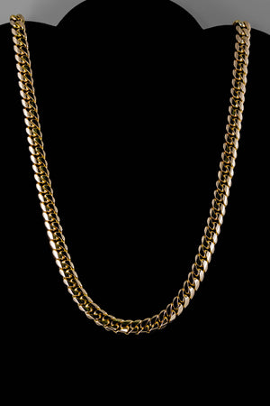 "14k Yellow Gold Miami Cuban Link Chain 26"" 10.6mm"