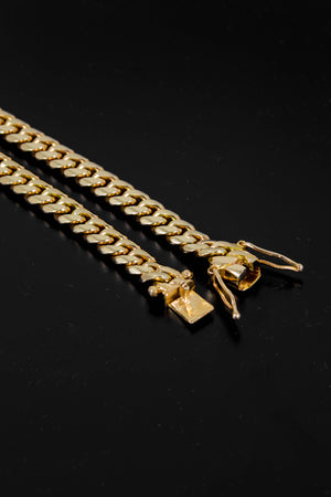 "14k Yellow Gold Miami Cuban Link Chain 26"" 7.6mm"