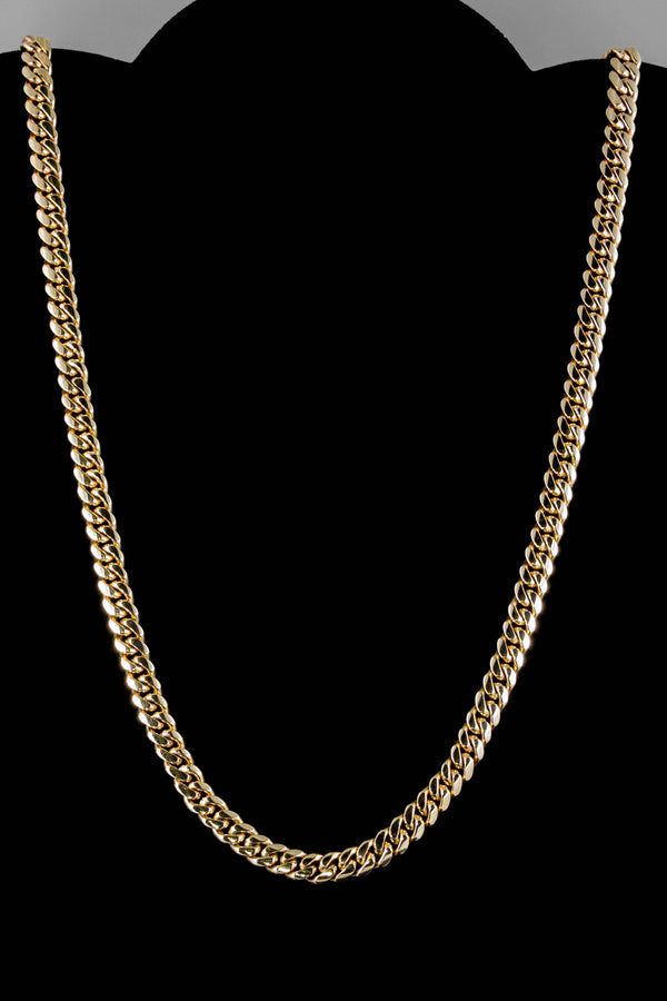 "14k Yellow Gold Miami Cuban Link Chain 26"" 6.8mm"