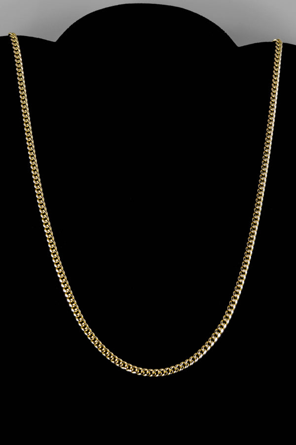 "14k Yellow Gold Miami Cuban Link Chain 26 ½"" 3.5mm"