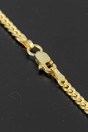 "14k Yellow Gold Miami Cuban Link Chain 24"" 2.5mm"