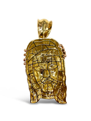 14k Tri-Color Gold Jesus Piece Pendant 48 Grams
