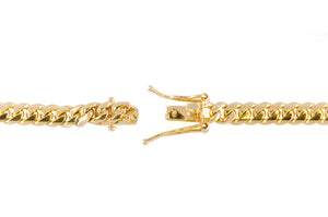 "14k Yellow Gold Miami Cuban Link Chain 24"" 6mm"