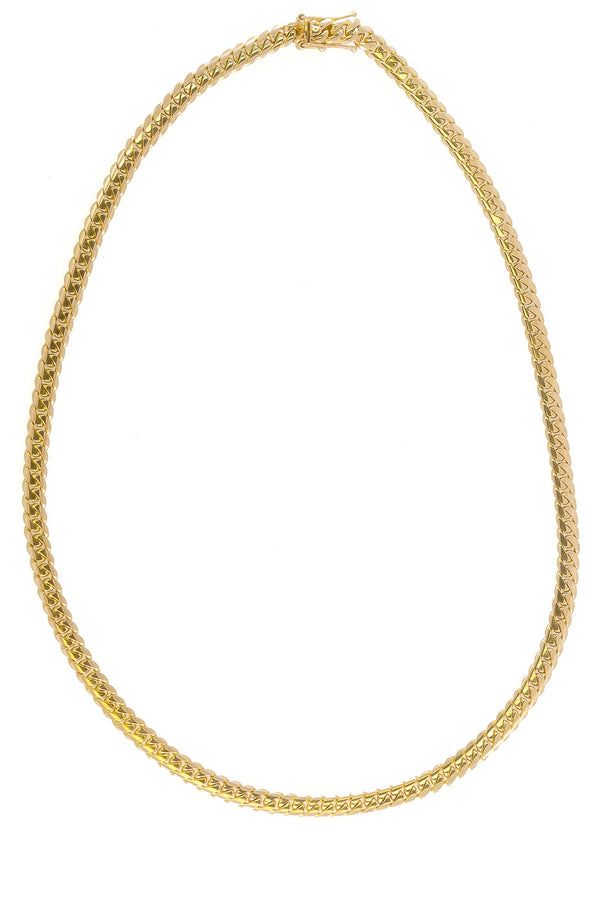 "14k Yellow Gold Miami Cuban Link Chain 26"" 6.9mm"