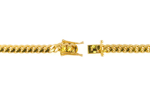 "14k Yellow Gold Miami Cuban Link Chain 26"" 6.7mm"