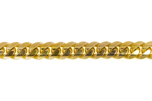"14k Yellow Gold Miami Cuban Link Chain 30"" 18.7mm"