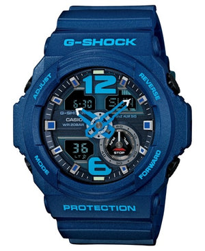 G-Shock Men's Analog-Digital Chronograph Blue Resin Strap Watch 55x52mm GA310-2A