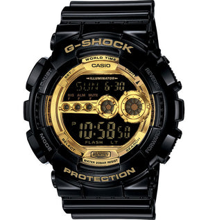 G-Shock Men's Digital Black Resin Strap Watch GD100GB-1