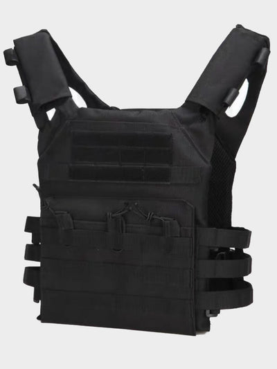 black tactical chest harness adjustable