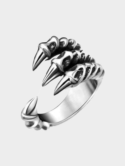 silver plated claw ring
