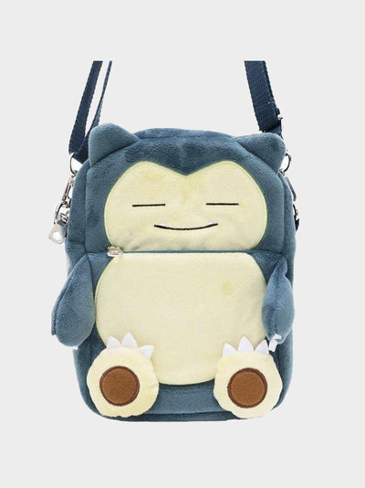 snorlax plush bag with adjustable strap, zipper