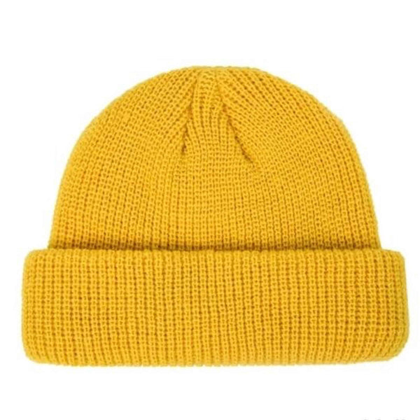 KNITTED HAT BEANIE RETRO