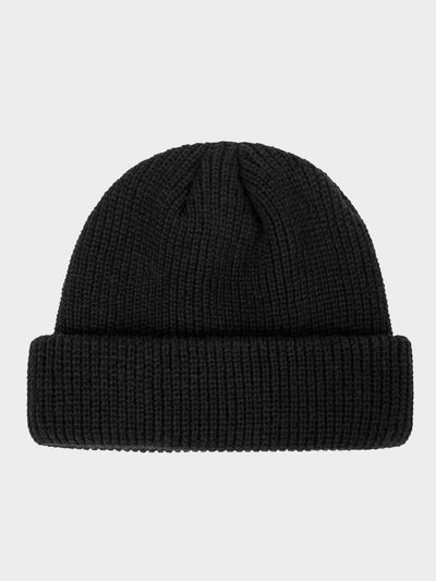 black retro knitted beanie