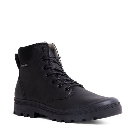 DUNCAN WATERPROOF BLACK LEATHER