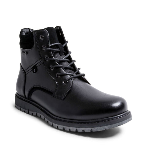 COLE WATERPROOF BLACK LEATHER