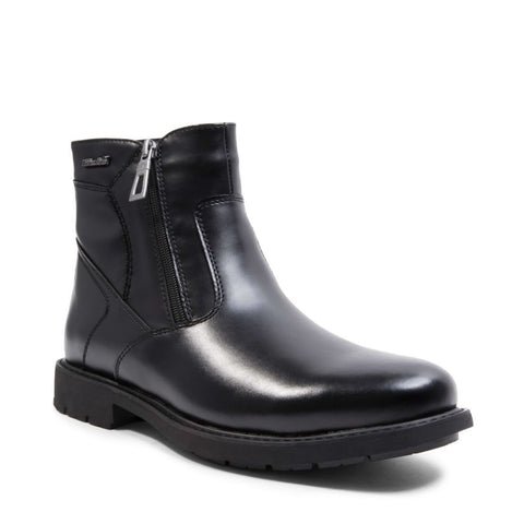 SLIDE WATERPROOF BLACK LEATHER