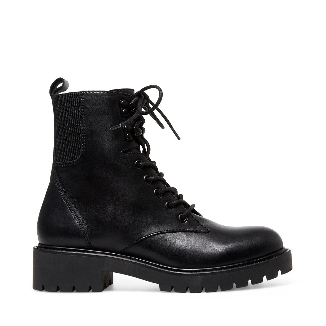 Grizzly Black Leather by Steve Madden