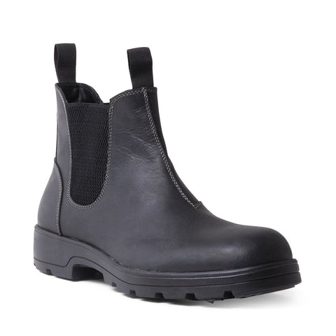 BUILDER WATERPROOF BLACK LEATHER
