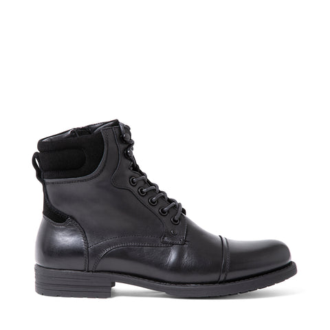 RAWSON WATERPROOF BLACK LEATHER