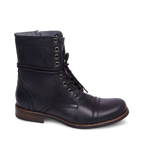 TROOPAH-C BLACK LEATHER