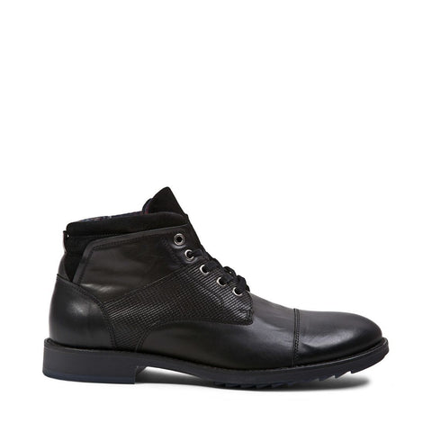 USTONN BLACK LEATHER