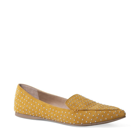 FEATHERS YELLOW SUEDE
