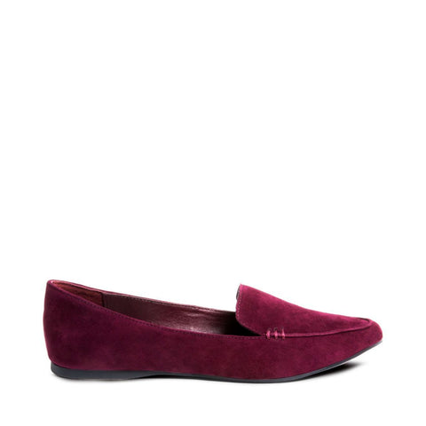FEATHER BURGUNDY SUEDE