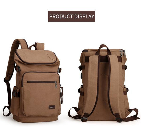 Canvas Travel USB Backpack - Gigatrendy.com