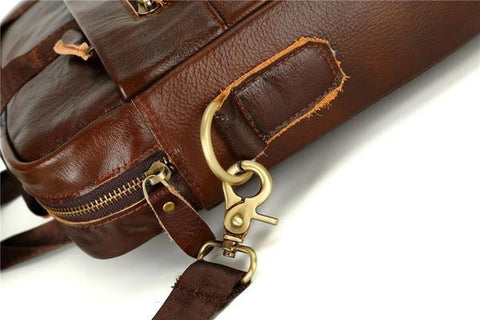 Briefcase Leather Messenger Bag - Gigatrendy.com
